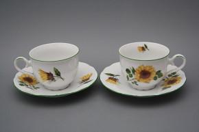 Tea cup 0,18l with saucer Ofelia Sunflowers ZL