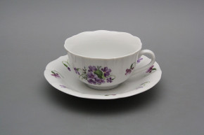 Cup low with saucer C1ZC1 Rokoko Violets BB