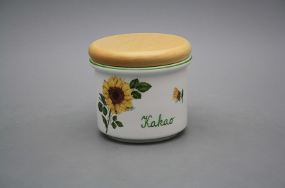 Box with wooden cover A - small Sunflowers ZL č.1