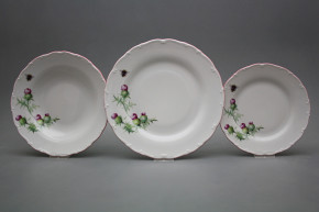 Plate set Ofelia Thistle 18-piece RL