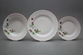 Plate set Ofelia Thistle 24-piece RL