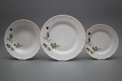 Plate set Ofelia Thistle 12-piece RL č.1