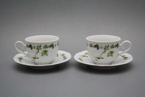 Tea cup 0,18l with saucer Ofelia Ivy BB