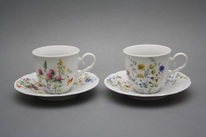 Coffee cup 0,18l and saucer Ofelia Flowering meadow BB