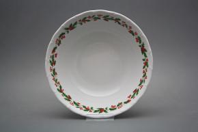 Deep dish 25cm Ofelia Christmas holly KBB