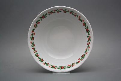 Deep dish 25cm Ofelia Christmas holly KBB č.1