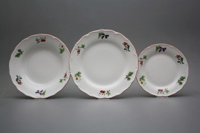 Plate set Verona Forest berries 18-piece ACL