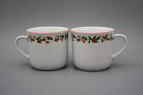Mug Varak 0,65l Christmas holly CL