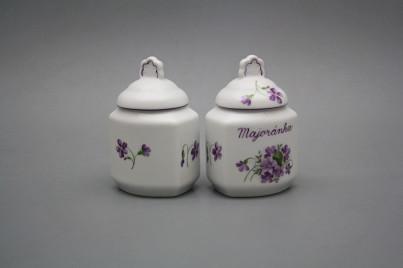Spice jar 0,2l Violets FL č.1