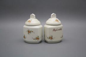 Spice jar 0,2l with covers ECRU Tea roses BB