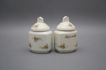Spice jar 0,2l with covers ECRU Tea roses BB č.1