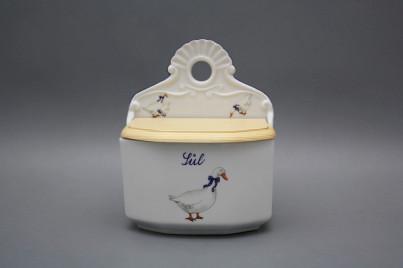 Wall box for salt with wooden cover Geese ML č.1