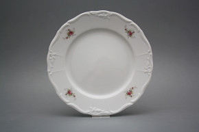 Flat plate 25cm Marie Louise Pink roses EBB