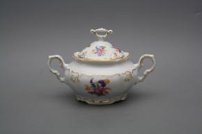 Sugar bowl 0,4l Marie Louise Bouquet with irises GL LUX