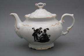 Teapot 1,2l Marie Louise Rococo dolls GL