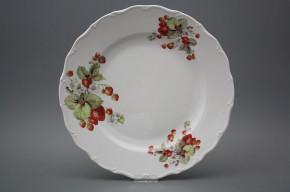 Flat round dish 31cm Verona Strawberries CBB