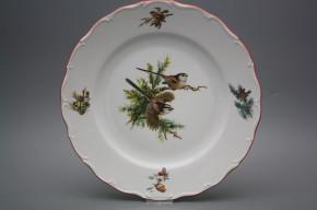 Flat round dish 31cm Verona Birds GCL