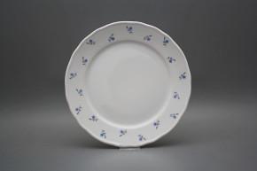 Flat plate 26cm Rokoko Forget-me-not Sprays ABB
