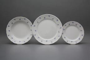 Plate set Rokoko Forget-me-not Sprays 18-piece ABB