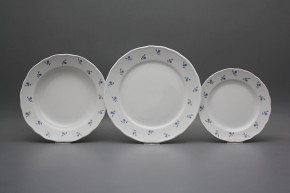 Plate set Rokoko Forget-me-not Sprays 24-piece ABB