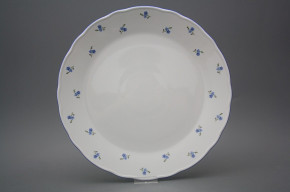 Flat round dish 30cm Rokoko Forget-me-not Sprays AAL