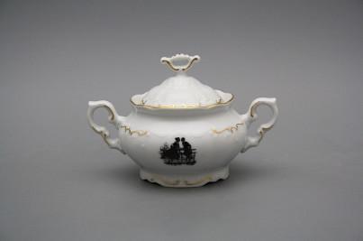 Sugar bowl 0,25l Marie Louise Rococo dolls GL č.1