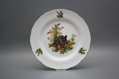 Flat plate 25cm Ofelia Wild boar GZL č.1