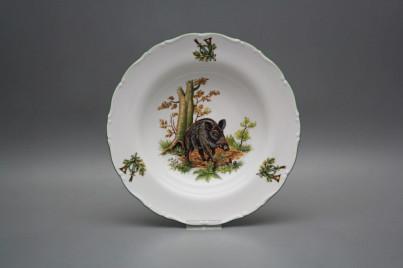 Deep plate 23cm Ofelia Wild boar GZL č.1