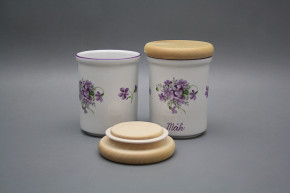 Box with wooden cover B - medium Violets FL