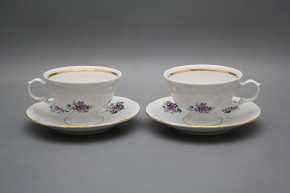 Tea cup 0,16l and saucer Maria Louise Sweet violets GL