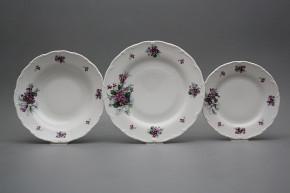 Plate set Ofelia Sweet violets 12-piece KBB