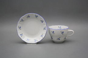 Cup high with saucer A2A1 Rokoko Forget-me-not Sprays AL