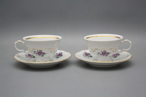 Tea cup 0,16l and saucer Maria Louise Sweet violets GL LUX