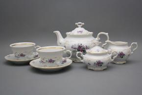 Tea set Marie Louise Sweet violets 15-piece GL LUX