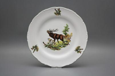 Flat plate 25cm Ofelia Roaring stag GZL č.1