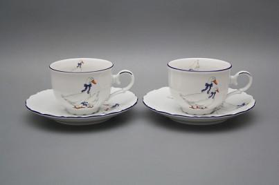 Tea cup 0,18l with saucer Ofelia Geese ML č.1
