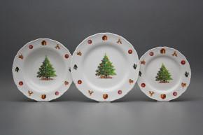 Plate set Ofelia Christmas Tree 24-piece JBB
