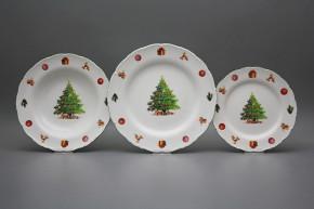 Plate set Ofelia Christmas Tree 24-piece JZL