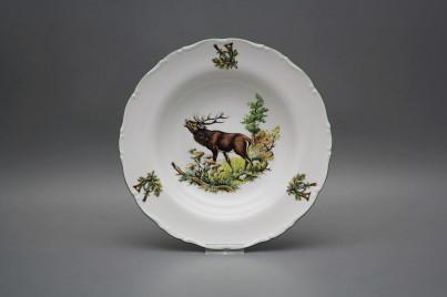 Deep plate 23cm Ofelia Roaring stag GZL č.1