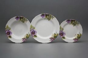 Plate set Ofelia Pansy 18-piece CBB