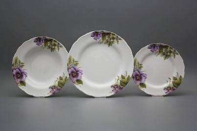 Plate set Ofelia Pansy 24-piece CBB č.1