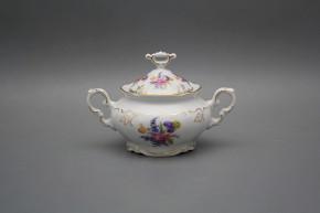 Sugar bowl 0,25l Marie Louise Bouquet with irises GL