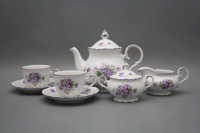 Tea set Ofelia Violets 15-piece FL č.1