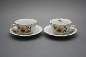 Cup low with saucer C1ZC1 Rokoko Sunflowers ZL