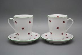 Mug 0,3l with saucer Verona Ladybirds ZL