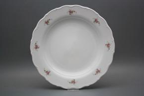 Flat round dish 31cm Verona Pink roses ABB