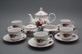 Tea set Ofelia Elizabeth rose 15-piece RL