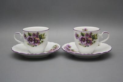 Coffee cup 0,18l and saucer Ofelia Pansy FL č.1