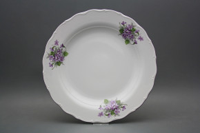 Flat round dish 31cm Verona Violets CFL