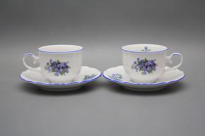 Tea cup 0,18l with saucer Ofelia Forget-me-not AL